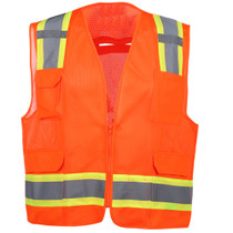 GSS Class 2 Fall Protection Vest, 2 Tone, Orange