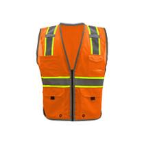 GSS Class 2 Hyper-Lite Vest with Black Sides, Orange