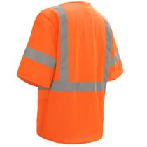 Class 3 Mesh Hook & Loop Vest with Sleeves, Orange