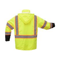 GSS Premium Class 3 Raincoat W/2-Tone Reflective Strip
