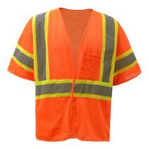 Standard Class 3 Two Tone Mesh Hook & Loop Safety Vest Orange