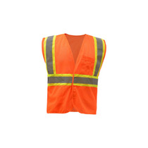 Class 2 Fire Treated Hook & Loop Closure Vest Orange