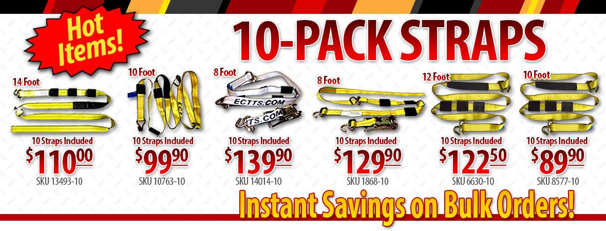 10 Packs of Car Hauler Straps