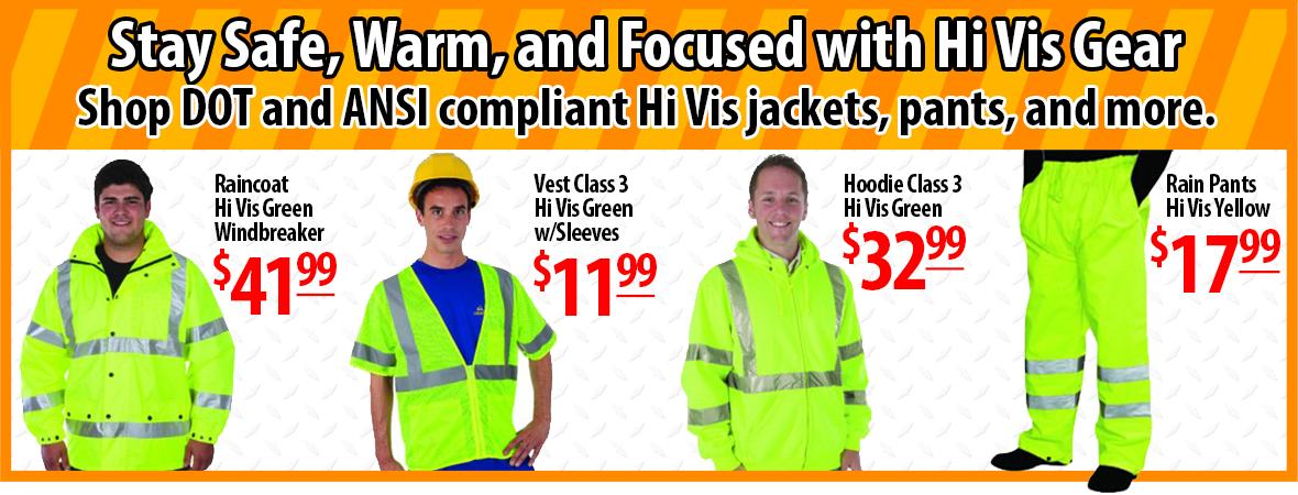Hi Vis DOT Compliant Gear On Sale