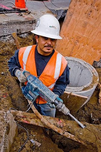 Utility worker with Hi Vis Clothing - Hi Vis Vest