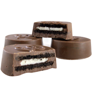 Reogood Chocolate Covered Sandwich Cookies made from the finest chocolate from Lang's Chocolates, dark chocolate covered oreos, milk chocolate covered oreos