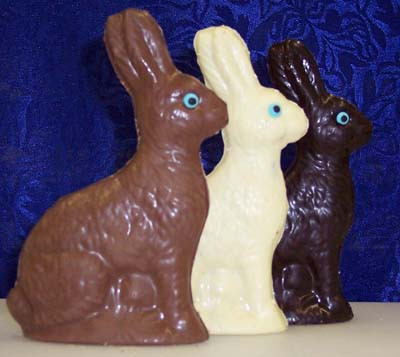5.5 inch hollow chocolate easter bunny