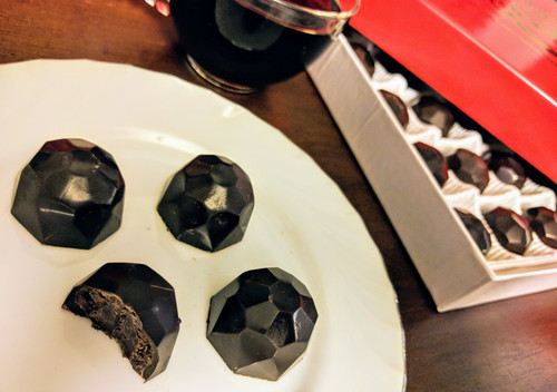 12 piece dark chocolate truffles