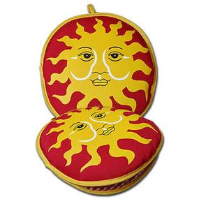 La Tortilla Oven Red Sun 10-inch Tortilla Warmer front + flat