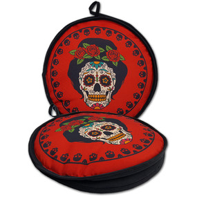 La Tortilla Oven 10-Inch Day of the Dead 10-Inch Day of the Dead-Dia de los Muertos Lady Roses Insulated Tortilla Warmer