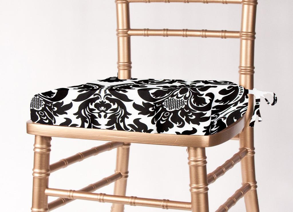 Alterio Black & White Damask Chiavari Chair Cushion Cover (SS-SCC-ALTERIO)