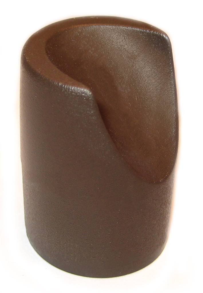 """Brown Stability Cap for 7/8"""" Folding Chairs"""