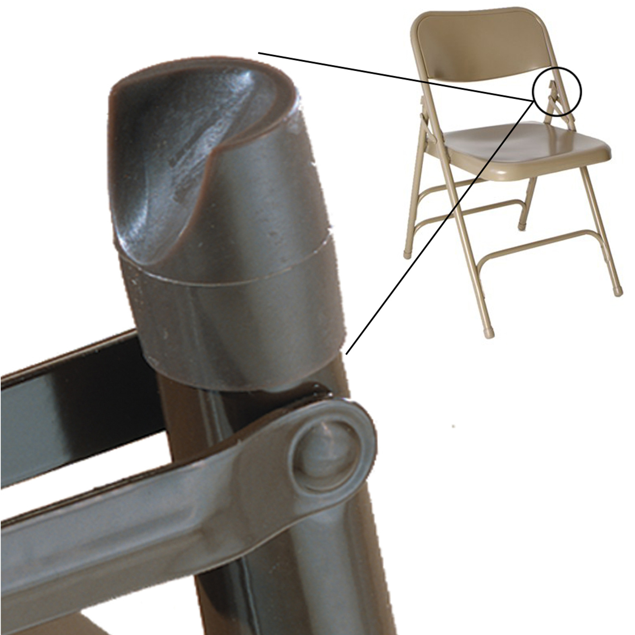Outdoor folding chair parts -  Individual Pieces Plastic Stability Caps For Metal And Padded Folding Chairs
