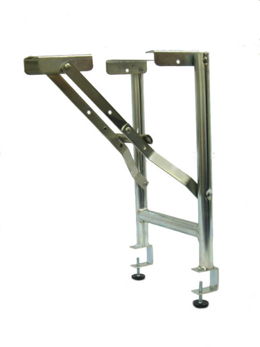 "15"" Wide Replacement Steel Folding Bar Riser Legs With 1-1/2"" Table Top Clamp - 2 Pack - Free Shipping - Bulk"