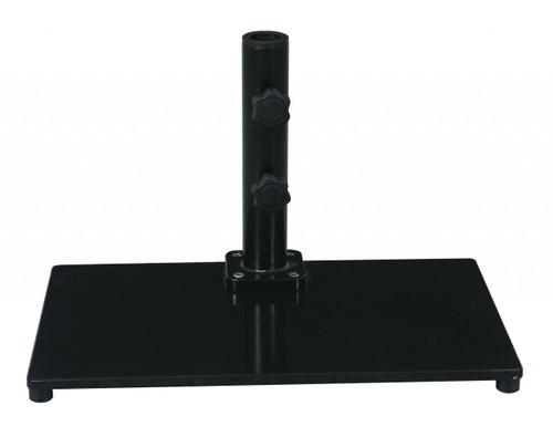 Galtech 40 lb. Premium Cast Iron Square Stand For Half Wall Umbrellas, Model 040SQ - Free Shipping