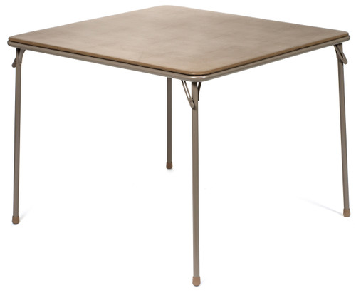 """XL Series 38"""" Square Folding Card and Game Table, Wheelchair Accessible, Beige - Free Shipping"""