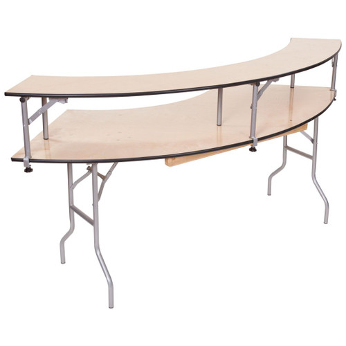 Classic Series Portable Serpentine Table With Bar Top Riser - Free Shipping