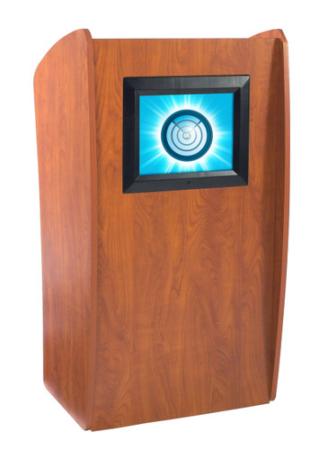 The Vision Floor Lectern With Digial Display By Oklahoma Sound - Cherry