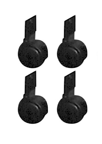 Four Casters For Lectern Model 222 By Oklahoma Sound -