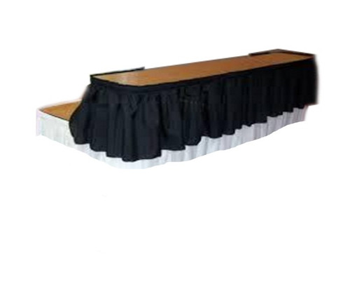 """15""""H Shirred Polyester Bar Riser Skirting with Velcro Clips - Sold By the Foot - 10+ Colors - Poly - 20+ Free Ship"""
