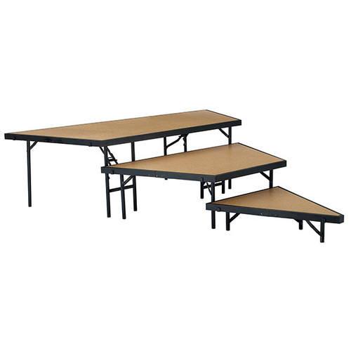3-Level Portable Performance Stage Set With Hardboard Surface By National Public Seating - 4 Sizes - Free Shipping - 10Warranty