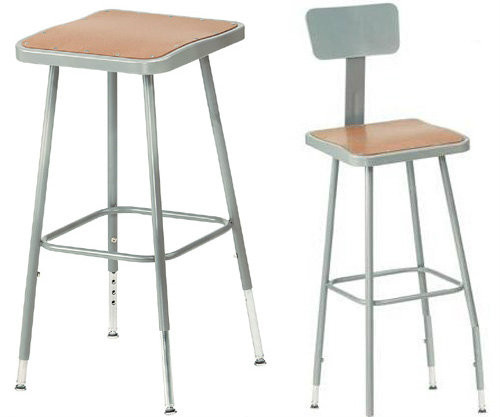 Adjustable Square Science Lab Stool With Hardboard Seat and Optional Backrest By National Public Seating -  sc 1 st  FoldingChairsandTables.com & Lab Stools | FoldingChairsandTables.com islam-shia.org