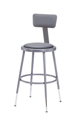 24  High Grey Adjustable Round Science Lab Stool With Padded Seat and Backrest.  sc 1 st  FoldingChairsandTables.com & Grey Adjustable Round Science Lab Stool With Padded Seat and ... islam-shia.org