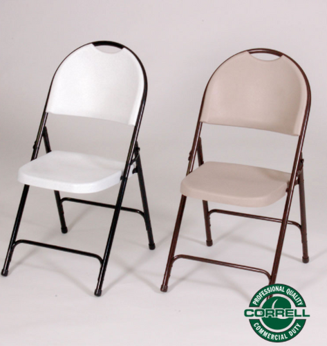 (4-PACK) Correll RC350 R Series Heavy Duty Blow Molded Plastic Chairs, USA Made (CL-RC350) - USA