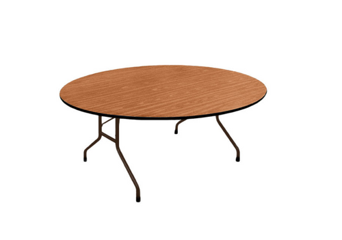 Correll Oval 60x72 Solid Plywood Core High Pressure Laminate Folding Table-USA Made  - USA - 2 Sizes - 2 Colors