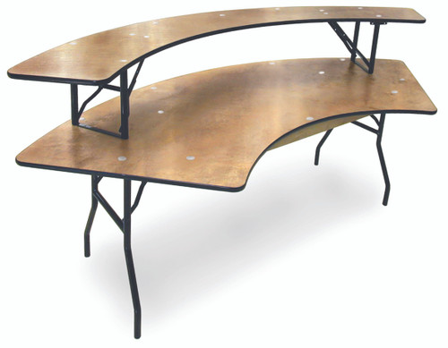 ProRent Plywood Serpentine Bar Riser Shelf-USA Made (MC-PR-SERP-RISER)