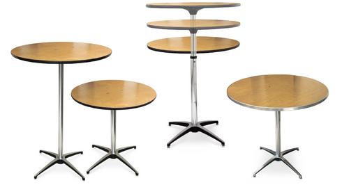 ProRent Plywood Pedestal Cocktail Table-USA Made  - USA