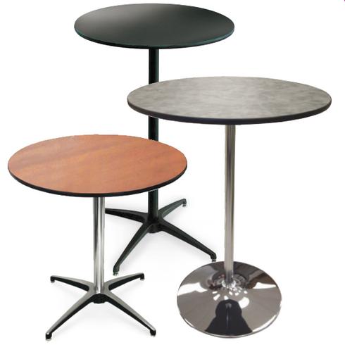 High Pressure Laminate Pedestal Cocktail Table-USA Made  - USA