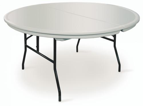 Commercialite Round Plastic Folding Table-USA Made (MC-C-ROUND) - USA