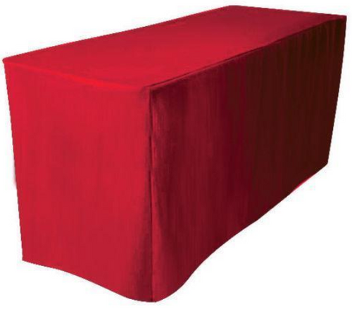 Solid Polyester Fitted Table Box Linen - 10+Colors-20+Free Ship