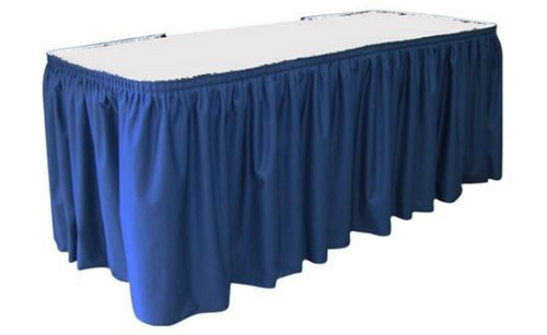 """30""""H Spun Polyester Shirred Table Skirting (By the Foot) Includes Velcro Clips - 10+Colors-20+Free Ship"""