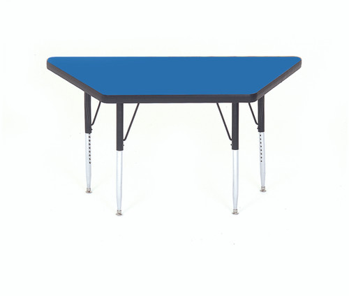 Correll Trapezoid High Pressure Laminate Daycare Activity Table with Adjustable Height - 8 Colors - 2 Sizes - USA