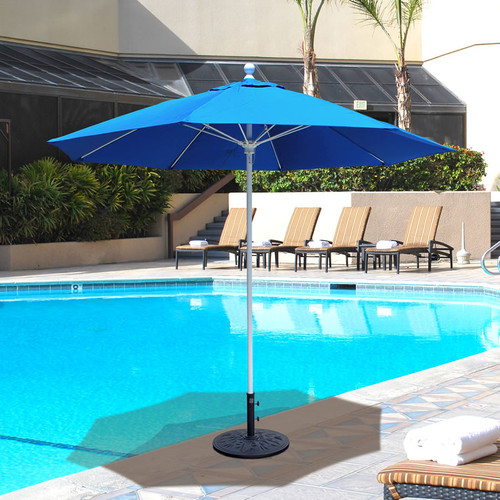 Galtech 9-ft. Aluminum Umbrella With Manual Lift, Model 735 - Free Shipping - 10+ Colors