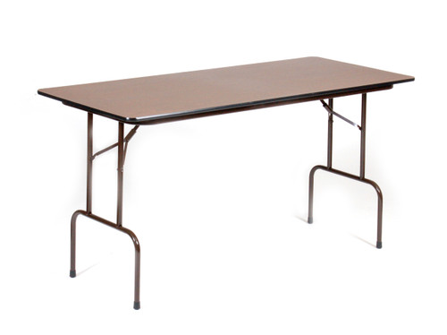 "Correll 30""W x 72""L (6 ft) Counter Height (36""H)  3/4"" Top High-Pressure Laminate Folding Table - USA"