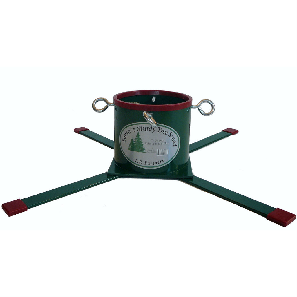 Santa's Sturdy Christmas Tree Solid Steel Stand, Up to 12 Foot Trees