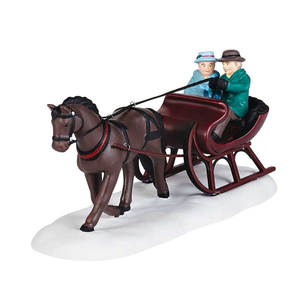 Department 56 New England Village Sleigh Ride Accessory, 2.28-Inch