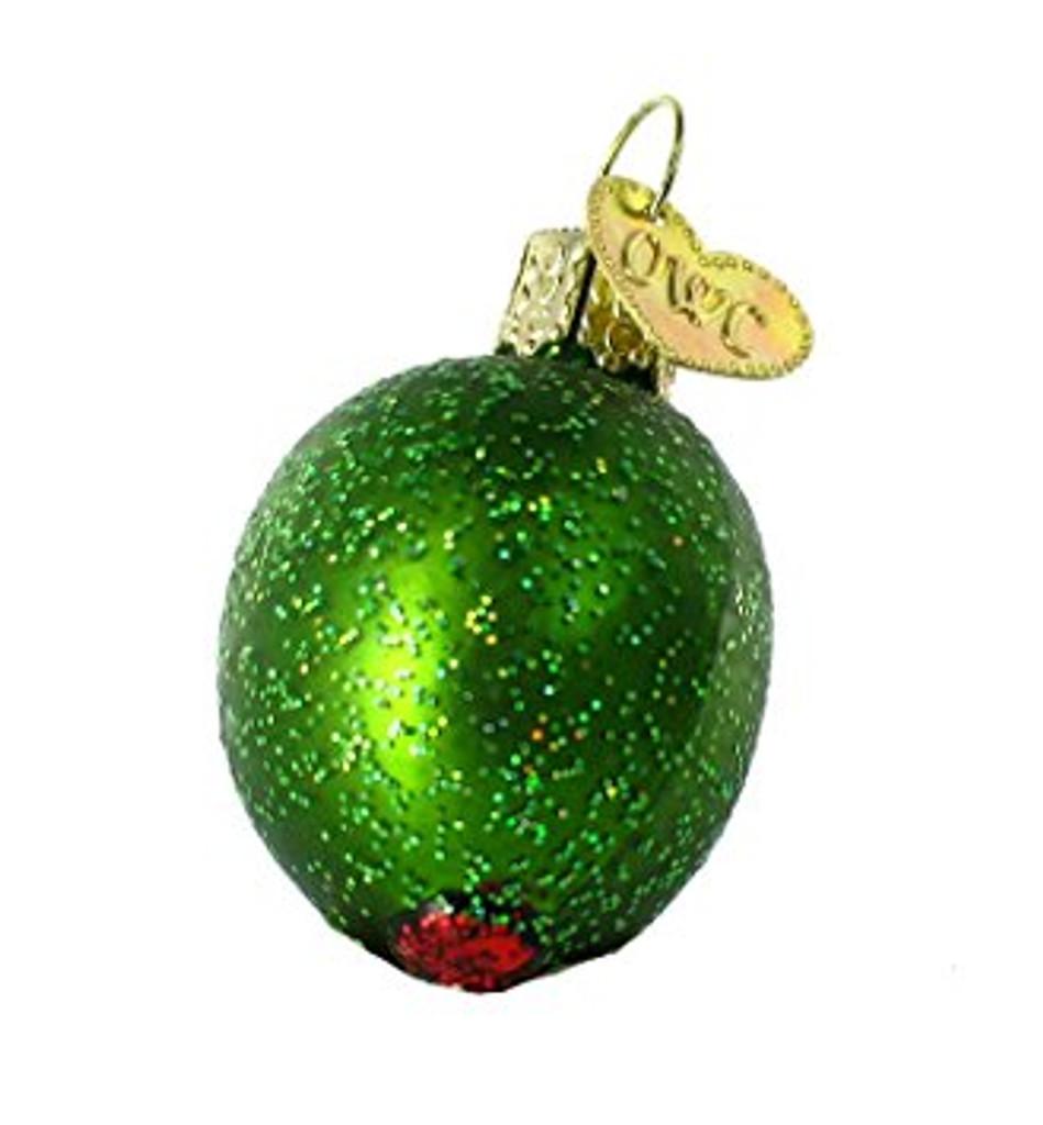 Old World Glass - Stuffed Green Olive Ornament