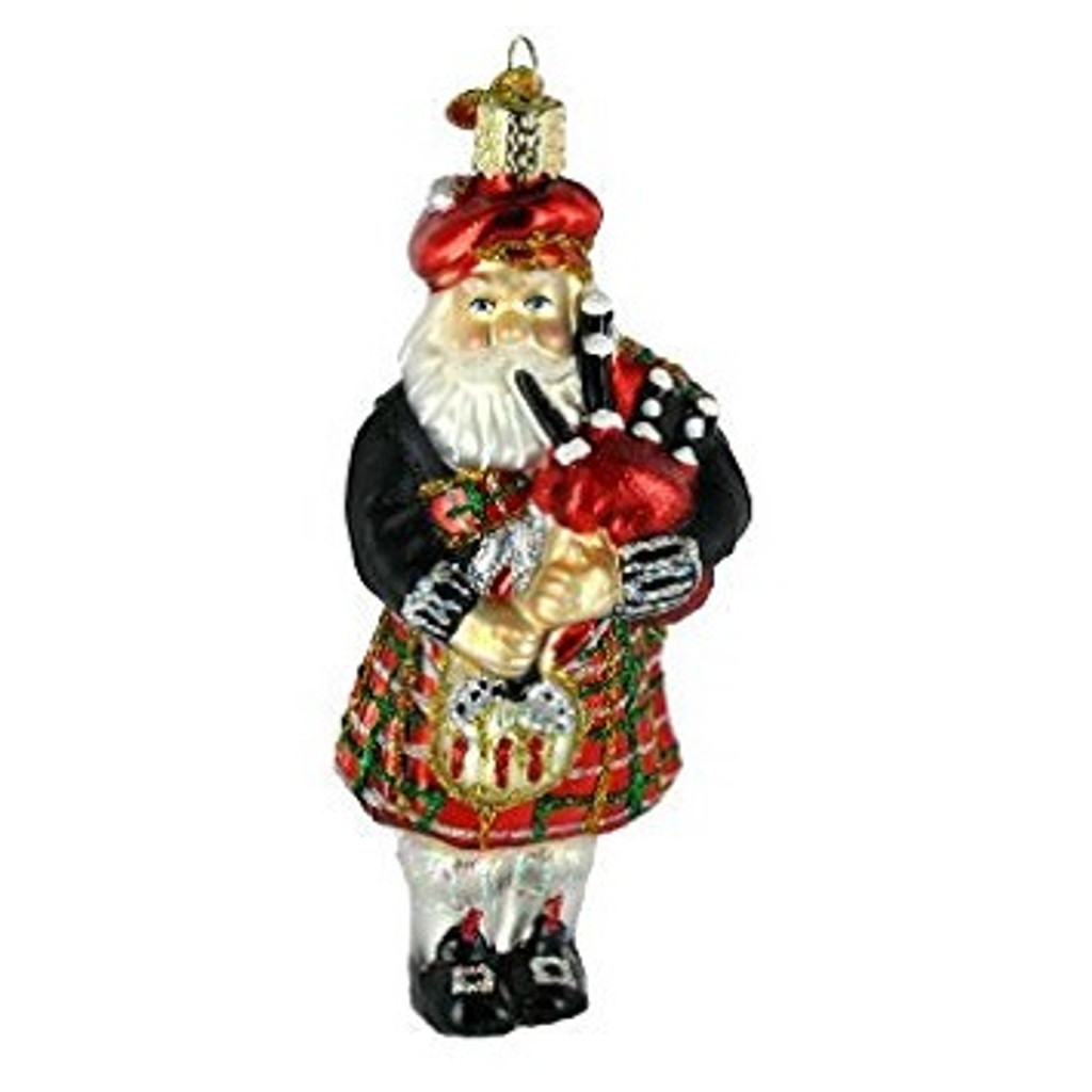 Old World Glass - Highland Santa Ornament