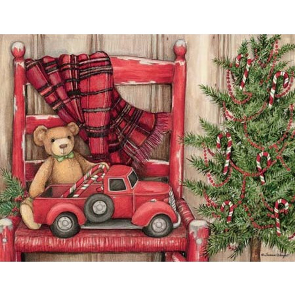 BEAR IN CHAIR BOXED CHRISTMAS CARDS