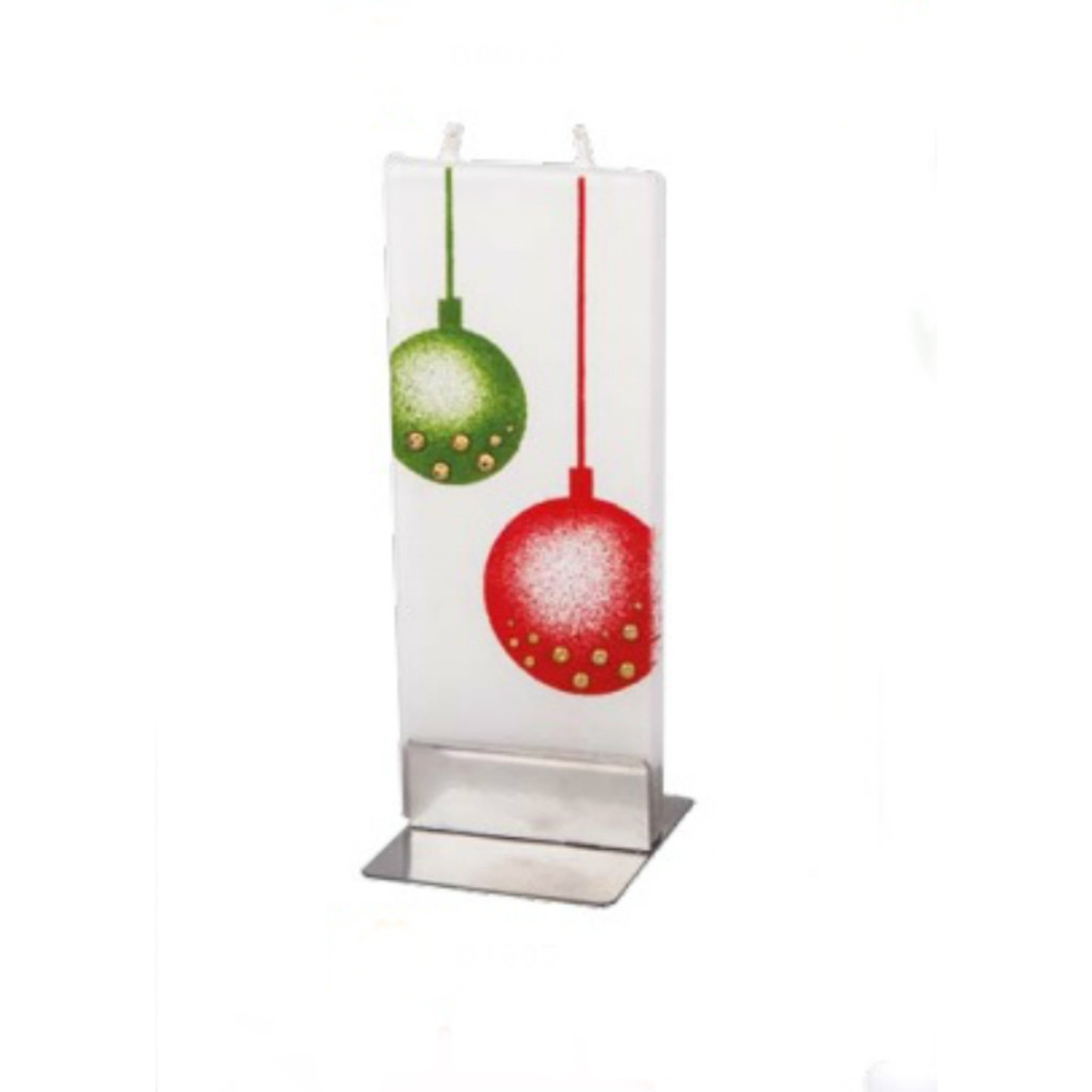 Flatyz Handmade Lithuanian Twin Wick Unscented Candle - Hanging Ornaments