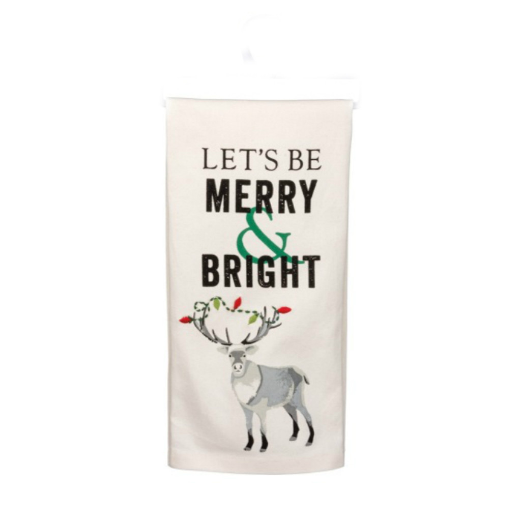 Merry and Bright Dish Towel