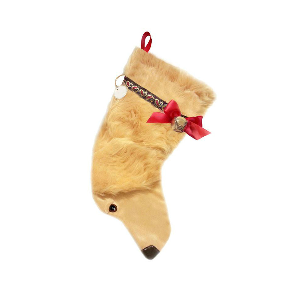 Golden Retriever Christmas Stocking