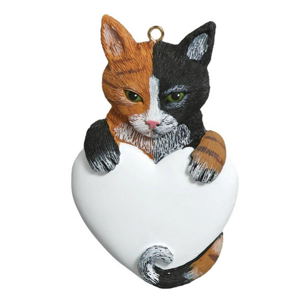 Free Personalization -  Calico Cat Ornament