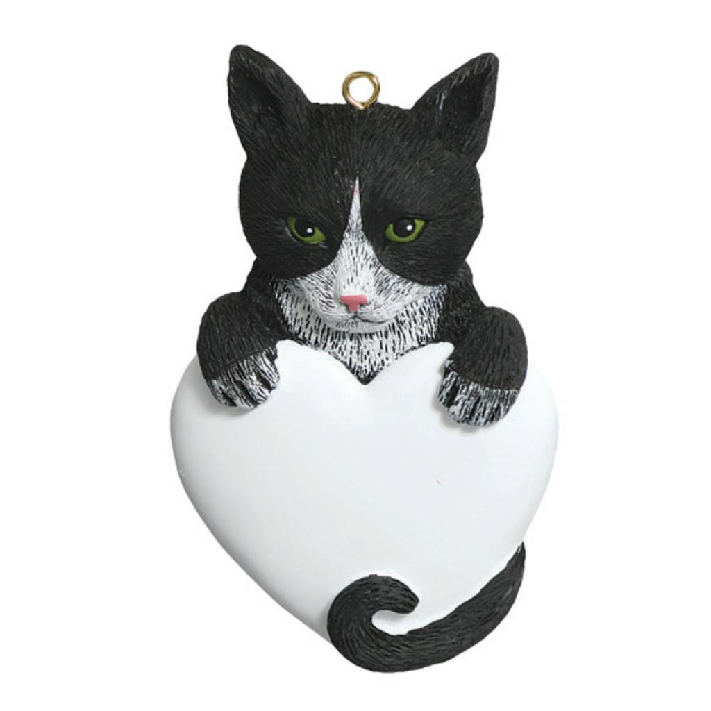 Free Personalization -  Tuxedo Cat Ornament
