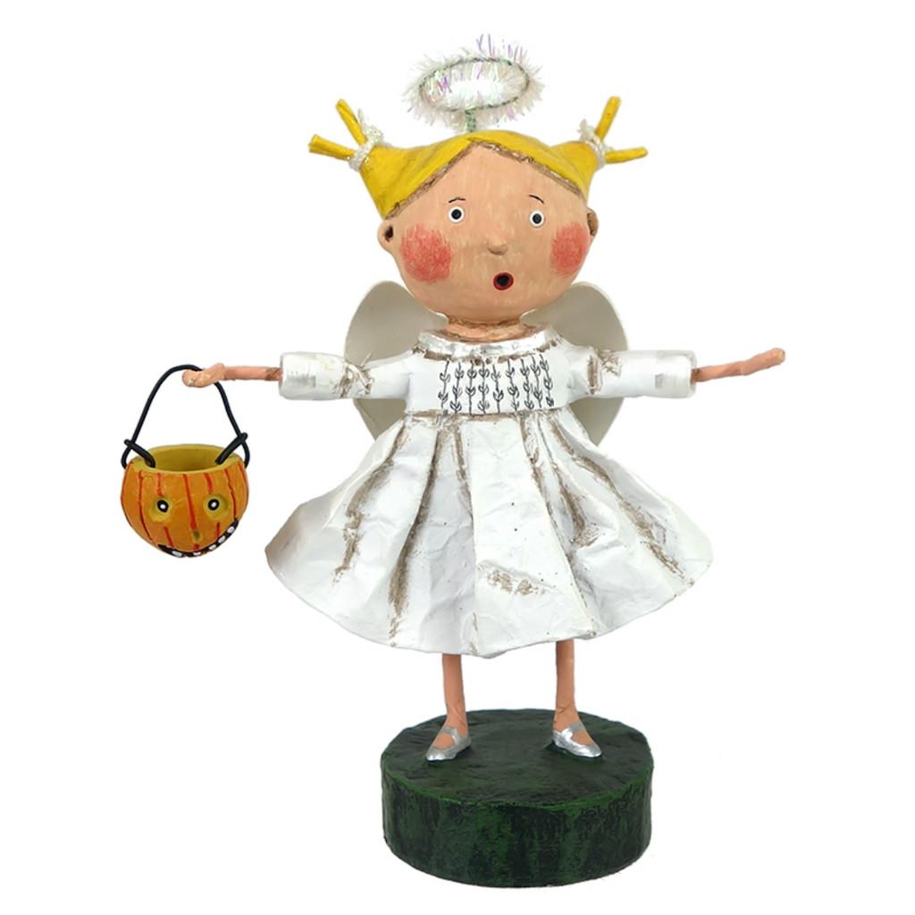*New for 2017* Lori Mitchell Folk Art - Angel Girl Figurine
