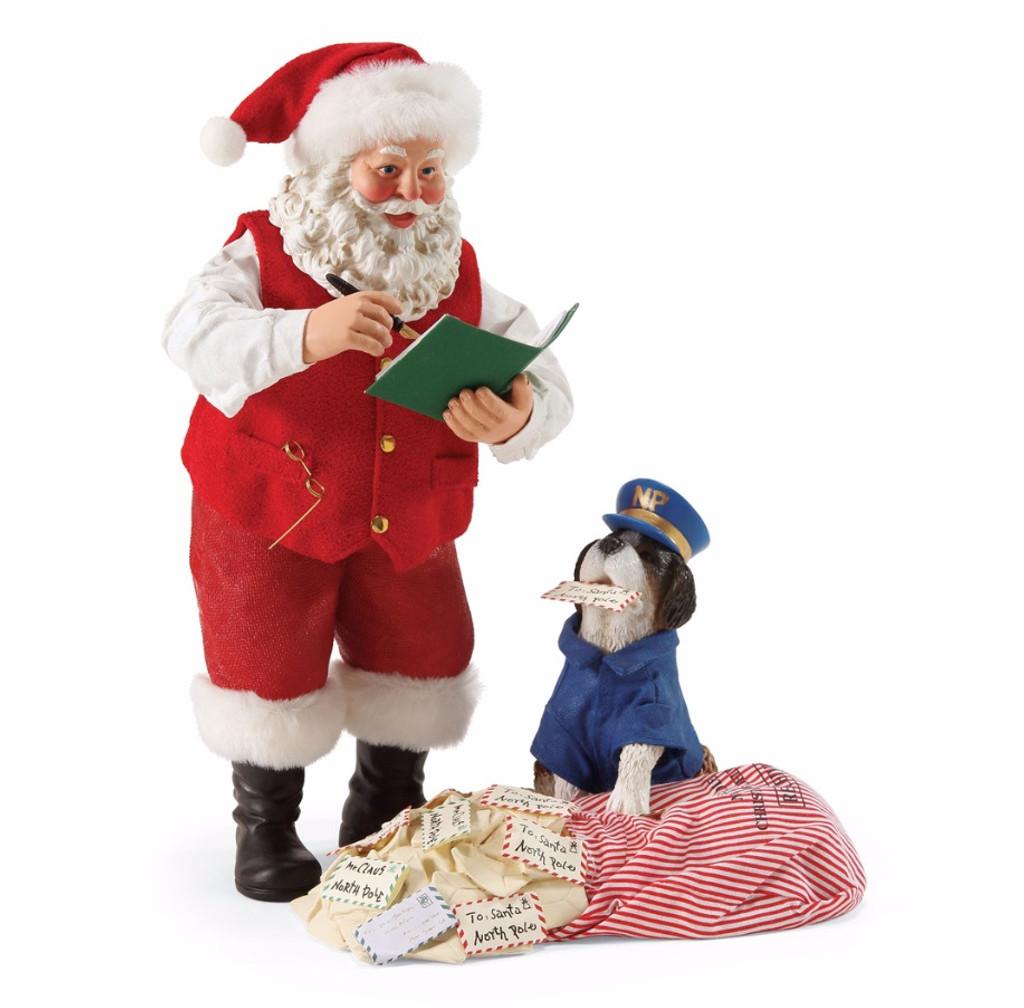*New for 2017* Department 56 - Possible Dreams - Postal Inspector Clothtique Santa